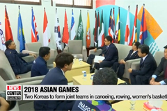 Two Koreas to form joint teams for 3 sports at Asian Games