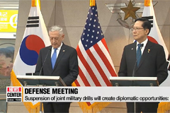 S. Korean, U.S. defense chiefs reaffirm ironclad alliance and watertight consultations