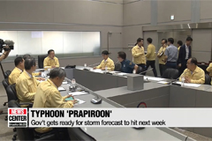 Typhoon Prapiroon headed to South Korea