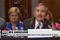Fmr. U.S. Admiral Harry Harris sworn in as ambassador to S. Korea