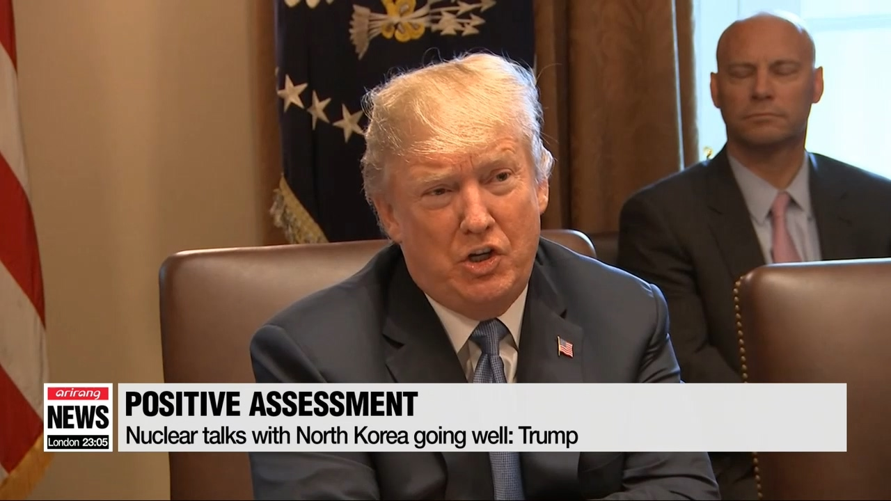 Nuclear talks with North Korea going well: Trump