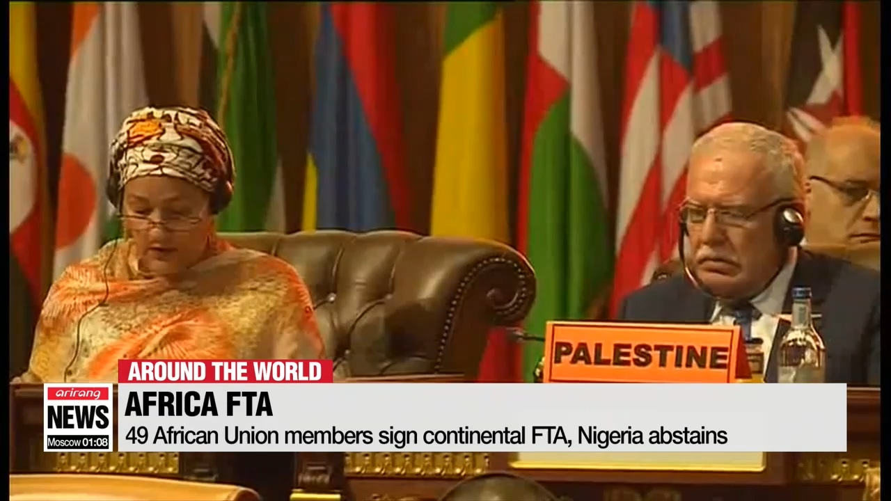 49 African Union members sign continental FTA, Nigeria abstains