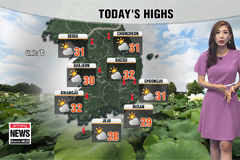 Monsoon showers to fall during the day, sultry day