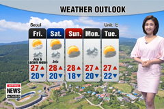 Steaming hot, sudden showers expected