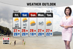 Lower daytime highs with showers