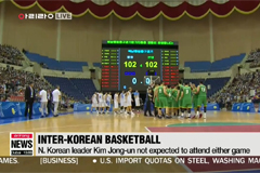 Two Koreas in second day of basketball friendlies in Pyongyang