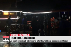 At least one dead, 53 missing after tourist boat capsizes in Phuket