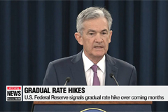 U.S. Federal Reserve signals gradual rate hike over coming months