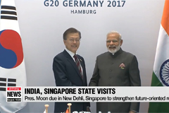 President Moon Jae-in to make state visits to India and Singapore