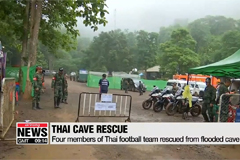 Four members of Thai football team rescued from flooded cave