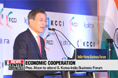 President Moon to focus on business in day two of India visit