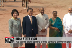 President Moon holds bilateral summit with Indian Prime Minister