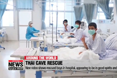 New video shows rescued boys in hospital, appearing to be in good spirits and health