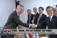 Moon kicks off first state visit to Singapore; set for summit with PM Lee Hsien Loong