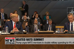 Trump urges NATO members to double military spending to 4% of GDP