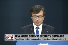 Seoul's defense ministry to put its utmost effort to end military's illegal interference on domestic politics