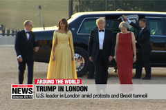 Trump in London amid protests and Brexit turmoil