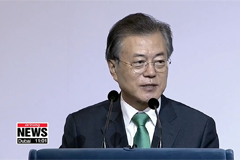 President Moon outlines South, North Korea economic community, economic map with ASEAN in 'Singapore Lecture'