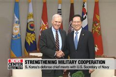 S. Korea's defense chief Song meets with U.S. Secretary of the Navy Spencer to strengthen military cooperation