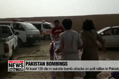 At least 128 die in suicide bomb attacks on poll rallies in Pakistan