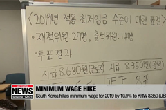 South Korea hikes minimum wage for 2019 by 10.9%