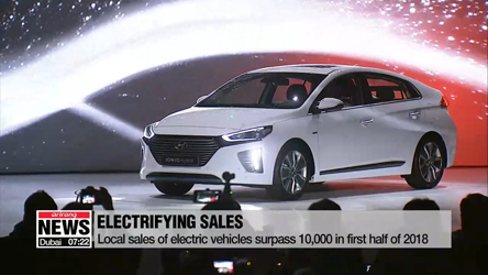 EV sales of the first half year over 10 thousand... closing in upon last year's sale