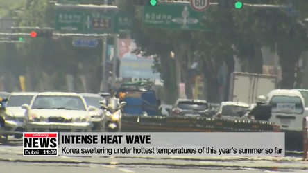 Korea sweltering under hottest temperatures of this year's summer so far