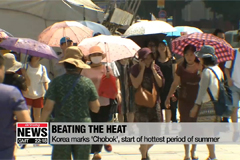 Korea marks 'Chobok', start of hottest period of summer
