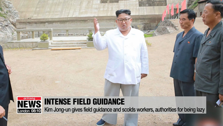Kim Jong-un gives field guidance and scolds workers, authorities for being lazy