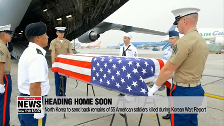 North Korea to send back remains of 55 American soldiers killed during Korean War: report