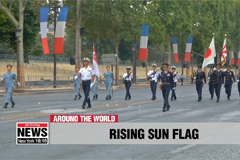 Koreans in France angered by Japanese troops waving controversial Rising Sun Flag in Paris