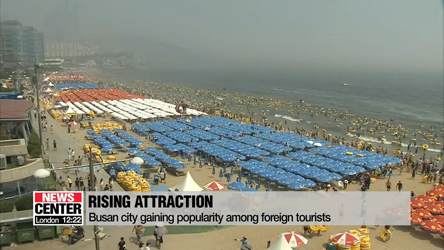 Busan gaining popularity among foreign tourists