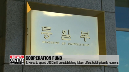 S. Korea to spend US$ 3 mil. for establishing liaison office, holding family reunions