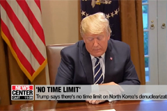 Trump says there's no time lim