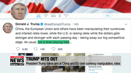 Trump takes aim at China and EU over currency manipulation, rates
