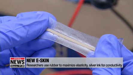Korean researchers develop stretchy electronic skin for soft robots
