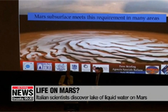 Italian scientists discover lake of liquid water on Mars