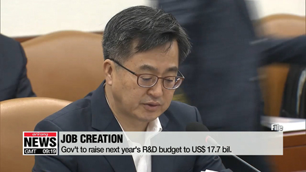 Gov't to raise next year's R&D budget for job creation
