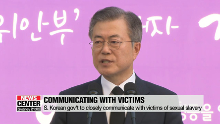President Moon says issue of Japan's wartime sexual enslavement c···