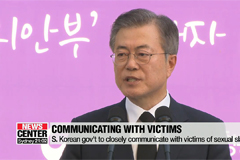President Moon says issue of Japan's wartime sexual enslavement cannot be solved diplomatically