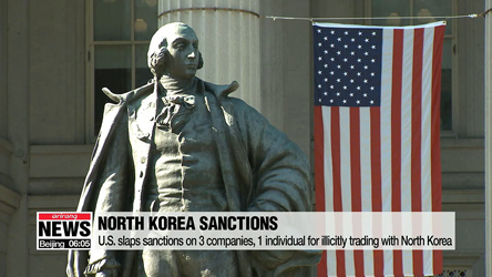 U.S. slaps sanctions on 3 companies, 1 individual for illicitly trading with North Korea