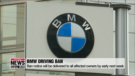 Driving suspension orders for BMW cars to be sent Thursday