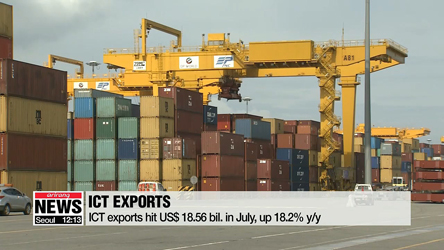 ICT exports rise by double digits for 20th straight month in July