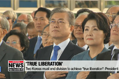 'True liberation' means ending division of Korea: President Moon