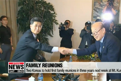 South and North Korean families to spend 11 hours together over three days at family reunions