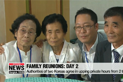 War-torn families of two Koreas spend private time together