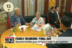 Family reunions: war-torn families to part ways on Wednesday