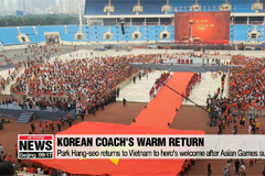 Park Hang-seo returns to Vietnam to hero's welcome after Asian Games success