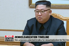 N. Korean leader says he plans to denuclearize within President Trump's first term