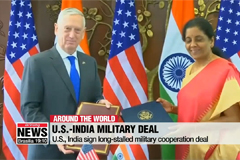 U.S., India sign long-stalled military cooperation deal